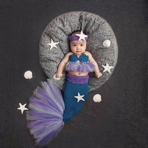Other - 3Pcs Newborn Baby Mermaid Photography Prop Photo